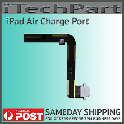 Charge Port Connector Dock Flex Cable Ribbon Replacement For iPad Air 5 WHITE
