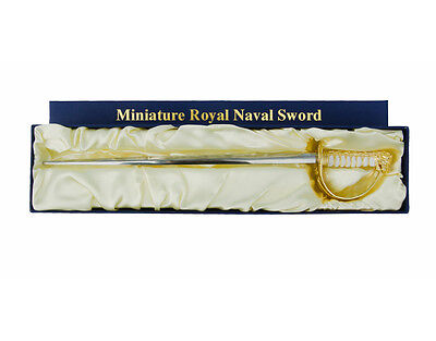 Miniature Royal Navy Ceremonial Naval Sword 1:3 Scale Letter Opener