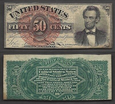 50 Cent Fractional==4th ISSUE==Fr. 1374==RARE LINCOLN===Ch. CU