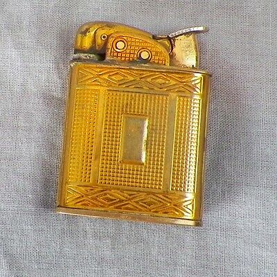 Vintage Art Deco Gold Square Evans Butane Lighter
