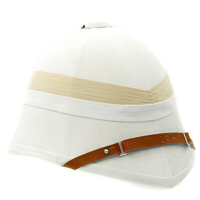 British Victorian Colonial White Pith Helmet P-1871