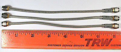 "SMA COAX HAND-FORMABLE .141 - 7-Inch - QMI ""Semi-Flex"" - *USED*ONCE* - Qty:3"