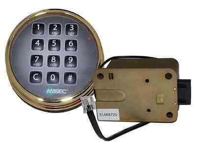 Amsec Esl10Xl Brass Digital Safe Lock Replace S&g 6120 & Lagard Basic Ii & Pro