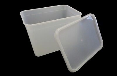 4 Litre Rectangular Ice Cream tubs / Food storage containers with Lids