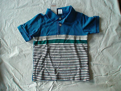 Nwt Gymboree Space Voyager Blue White Teal Stripe Top Shirt Polo