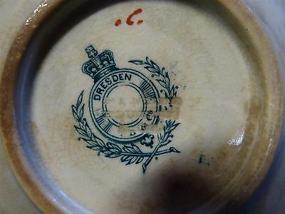 real antique by Dresden england uk Porcelain 18- 19 th C ? dish rare marking !