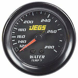 """JEGS Performance Products 41401 2-1/16"""" Water Temperature Gauge (Black)"""