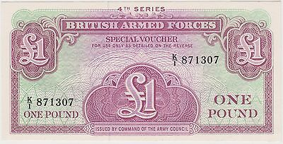 (ICB54) 1962 GB 1 pound 4th series armed forces UNC