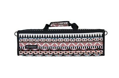 Messermeister 8 Pocket Padded Knife Storage Roll / Bag / Luggage - Aztec Print