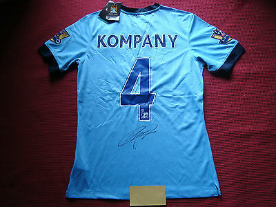 Manchester City Vincent Kompany Personally Signed 2014-15 Shirt-Bnwt-Large-Proof