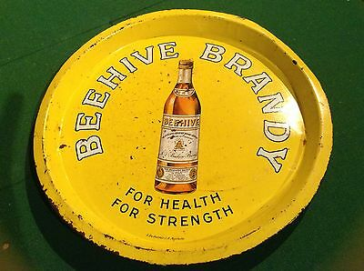 Beehive Brandy Vintage Drinks Tray - Collectable
