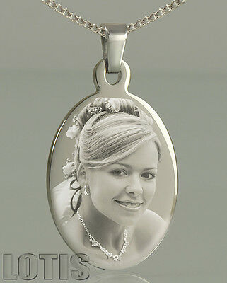 Personalised Photo Engraved Oval Pendant - Have your photo permanently engraved