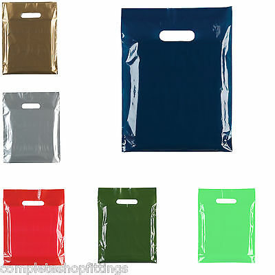 Premium Plastic Shopping Carrier Bags ALL SIZES/COLOURS - Top Quality!