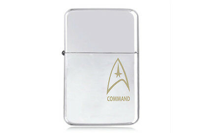 ★STAR★ TREK COMMAND engraved LIGHTER silver black pink gold STARFLEET BADGE