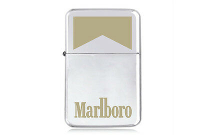 ★STAR★ LIGHTS CIGARETTES engraved LIGHTER silver pink gold black MARLBORO