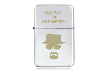 ★STAR★ HEISENBERG engraved LIGHTER silver gold black BREAKING BAD RESPECT WALTER