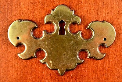 "Antique Keeler Brass KBC N5258 Keyhole ESCUTCHEON 3 3/4"" x 2 1/2"" Polished Brass"