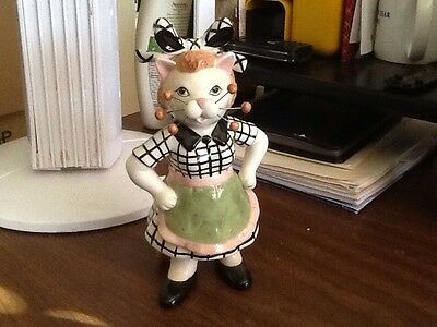 WHIMSICLAY By Amy Lacombe Super Rare Lucy Cat Figurine