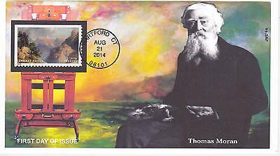 Jvc Cachets - 2014 Hudson River School First Day Covers Fdc Topical Thomas Moran