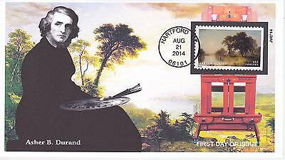 Jvc Cachets - 2014 Hudson River School First Day Covers Fdc Topical A.b. Durand