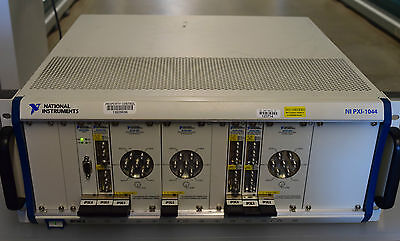 National Instruments NI PXI-1044  Chassis w  3x  PXI-2597, 3x PXI-2599 Modules