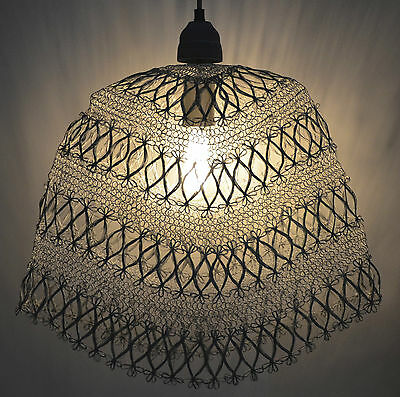 Industrial Retro Vintage Style Wire Cage Pendant Light Shade- Rust