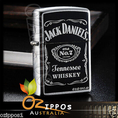 Zippo Lighter Jack Daniels Old No. 7 Street Chrome 24779 --- Free Shipping