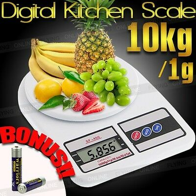 10kg/1g Kitchen Food Scale Digital LCD Electronic Weighing Postal