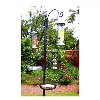 Kingfisher Black Metal Garden Wild Bird Seed Feeding feeder Station