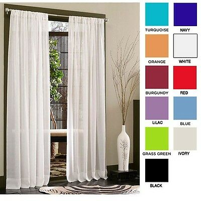 Set of 2: Diana Elegant Sheer Curtain Panels