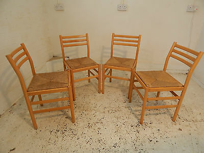 four,wooden,ladder back,rush seats,dining chairs,4 chairs,chairs,dining room,