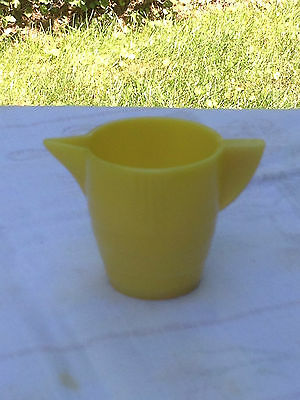 Child's Miniature Yellow Concentric Glass Creamer -Vintage USA Glass