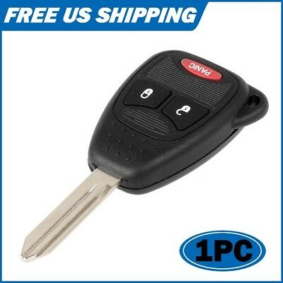 NEW Uncut FOB Key Remote Keyless Replacement 2+1 Button For Chrysler Dodge Jeep