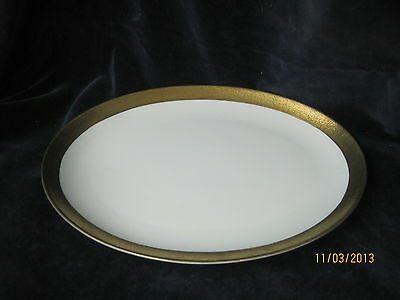 Vintage Japan china platter Arita hand painted gold rim