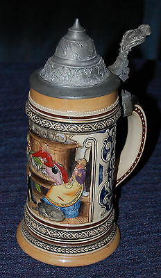 1/2 Liter Beer Stein with Pewter Lid