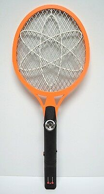 Cordless Rechargeable Bug Zapper Mosquito Insect Electric Fly Swatter Racket Big