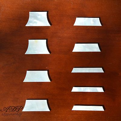 9x NACRES Trapezoid LP fretboard MOP INLAYS LesPaul Standard MotherPearl Luthier
