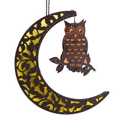 LED Moon with Owl Decoration Colour Changing Lamp Home Decor