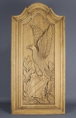 Eagle Antique Carved wood  Panel 19th