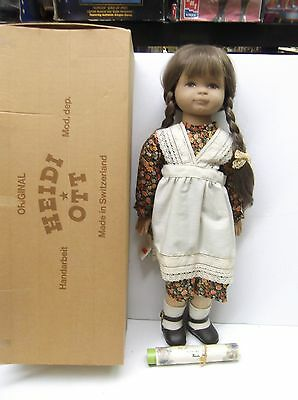 Minty in Box Original 1986 Heidi Ott Doll With Certificate & Booklet & Hang Tag