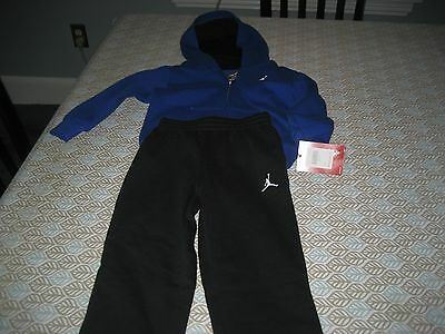 BOYS NIKE AIR JORDAN TRACK SUIT SIZE 2T ROYAL BLUE/BLACK MSRP $60 NEW WITH TAG