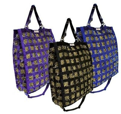 Super Tough Nylon 4 Sided Slow Feed Hay Bag Patented 1 Year Limited Warranty