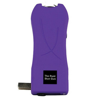 Stun Gun-Purple 20,000,000 Volt With Flashlight And Wrist Strap Disable Pin