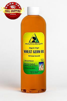 Wheat Germ Oil Unrefined Organic Carrier Cold Pressed Virgin Raw Pure 36 Oz