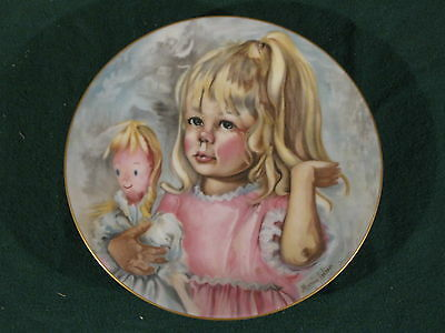 "Marion Carlsen Limoges ""Pinky And Baby"" 1976 Plate"