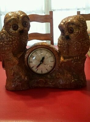 Double owl clock