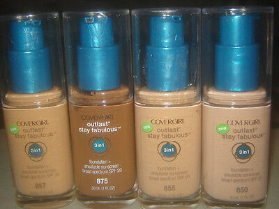 Covergirl Outlast Stay Fabulous 3 in 1 Foundation FREE SHIPPING