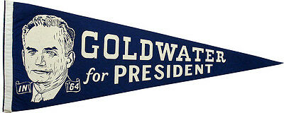 Large Barry Goldwater for President Campaign Pennant Flag (4831)