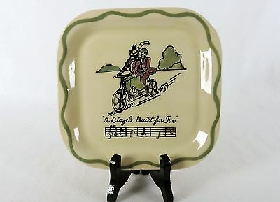 Vintage Plate Los Angeles Potteries, Bicyle Built for Two