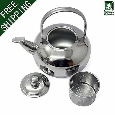 Portable Outdoor Camping Teapot Kettle Water Kettle Coffee Pot Aluminum 1L